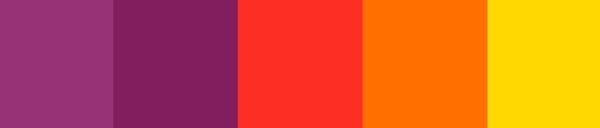 sunset palet